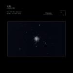 Dibujo astronómico de cielo profundo