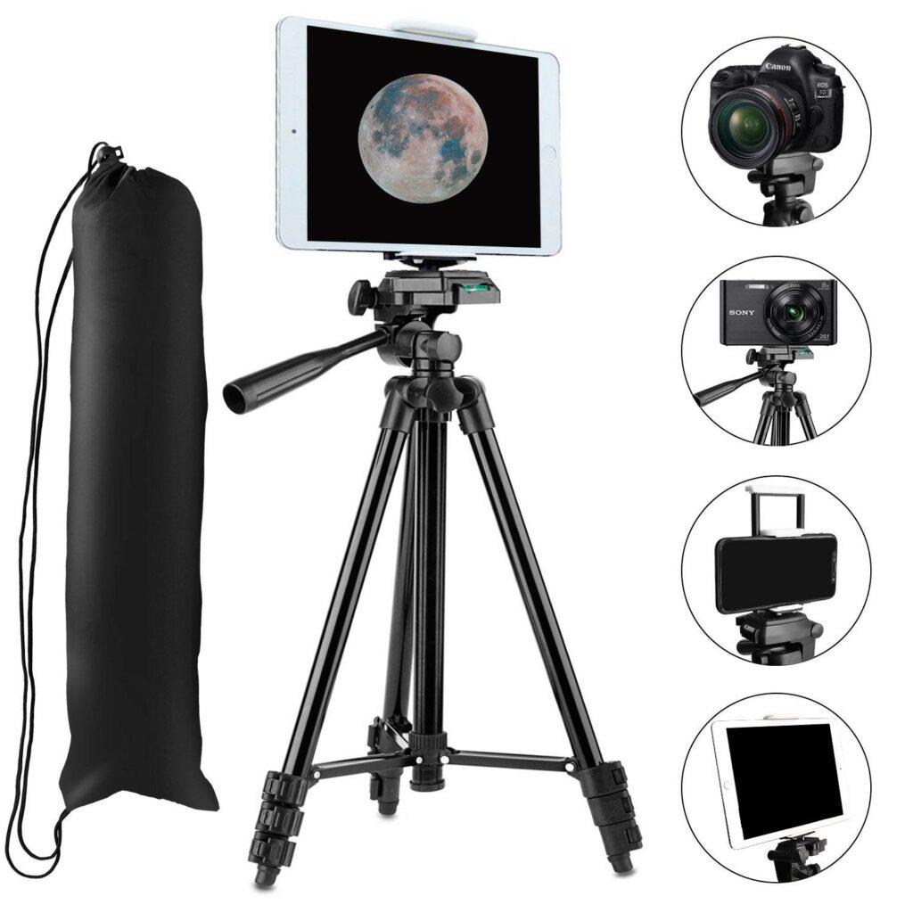 Trípode para fotografiar la Luna con Smartphone