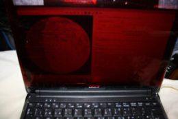Celofan rojo en ordenador