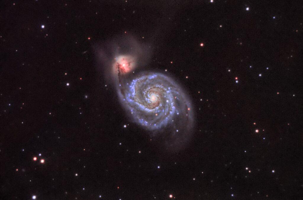 Recorte de M51 obtenido de la anterior imagen.