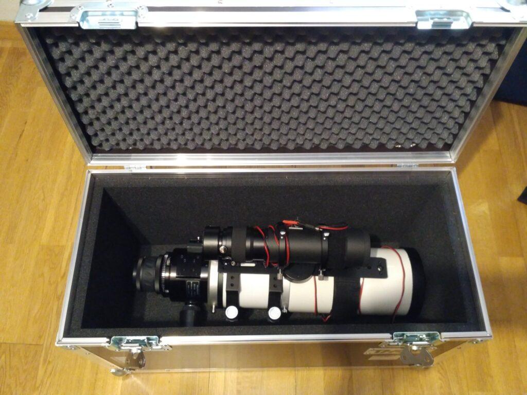 caja para telescopios