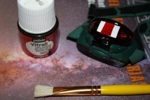Material linterna roja