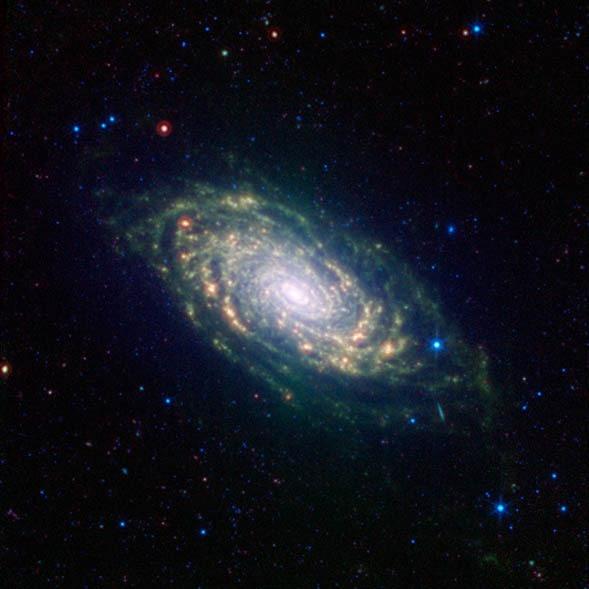 M63 en Infrarrojos. NASA-Spitzer.