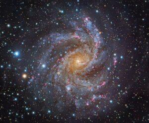 Imagen de NGC6946 obtenida desde el telescopio Subaru.