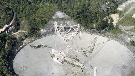 Telescopio de Arecibo destruido