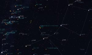 La constelación de Andrómeda