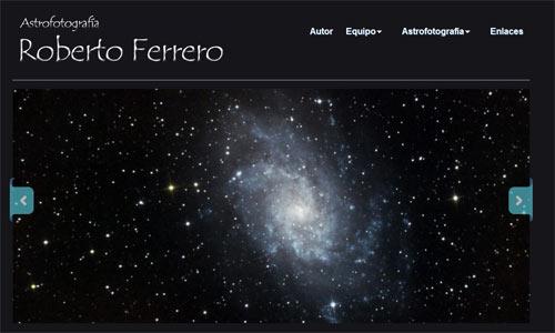 Mi nueva web de astrofotografía