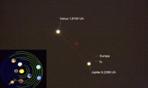 Conjunción Venus – Júpiter. 18 de agosto de 2014