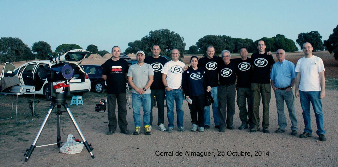 El grupo de la AAMS que allí nos dimos cita. Foto de Moisés Rojas