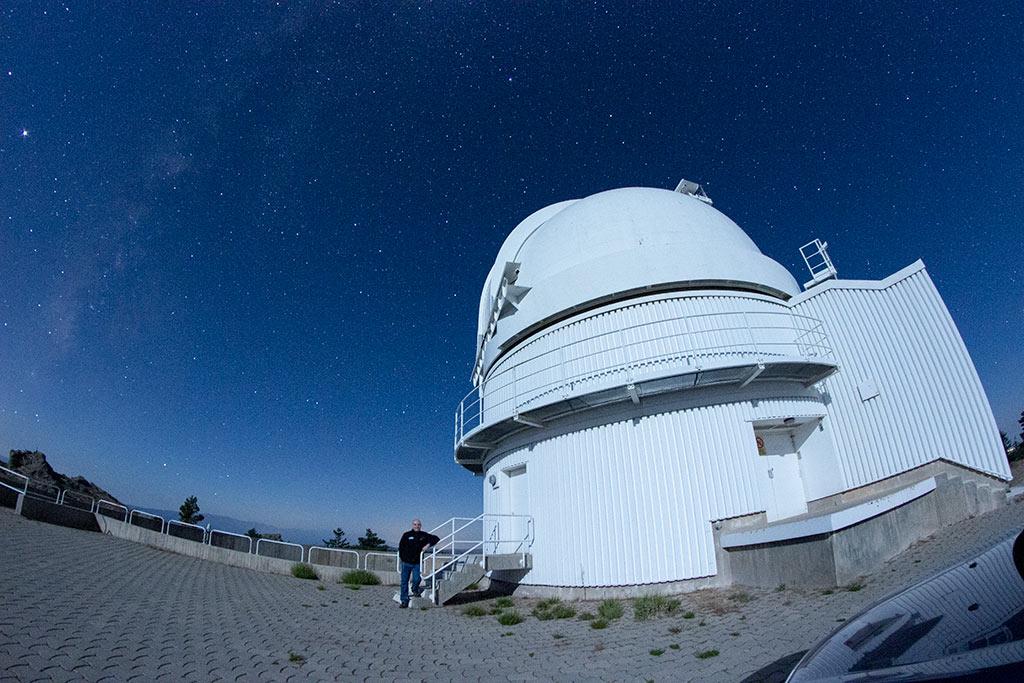 La cúpula del telescopio de 1,23m de Calar Alto