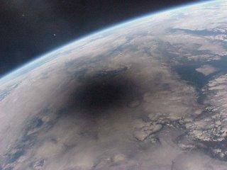Eclipse desde el espacio