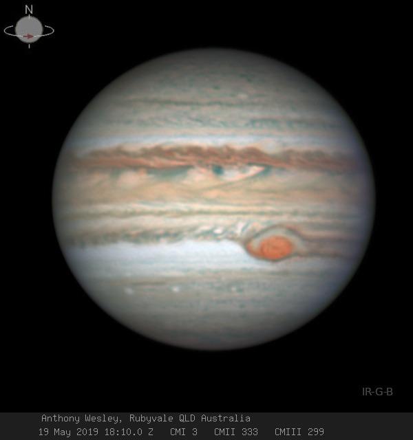 Penacho en la GMR de Júpiter
