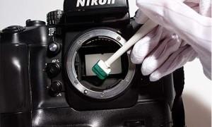 Limpieza del sensor de la cámara.