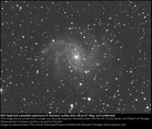 Supernova SN2017eaw