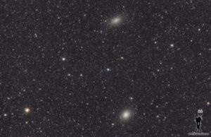 Galaxias enanas NGC147 y NGC185
