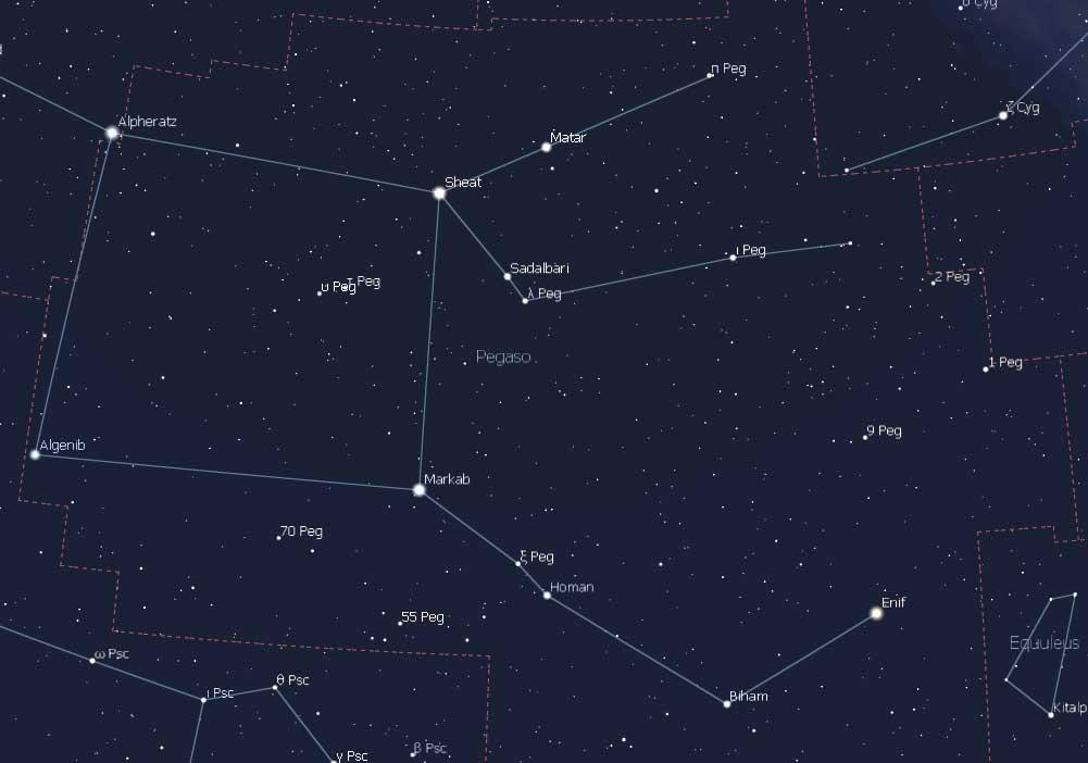 La constelación de Pegaso