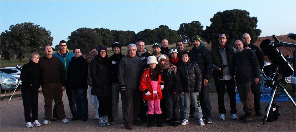 Una foto de la agrupación AAMS en la que empecé a iniciarme en la astronomía