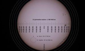 Cómo añadir una regla de escala a las imágenes solares
