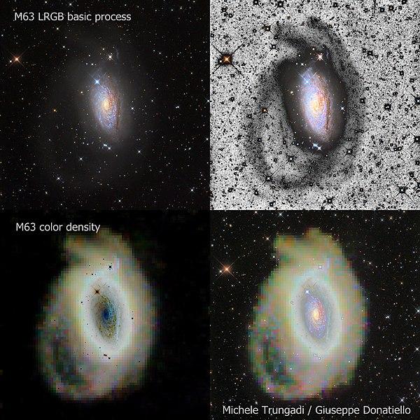 Arco y corriente estelar estudiado en M63