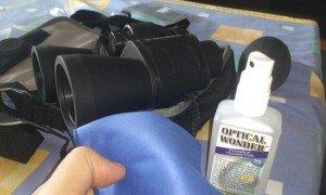 Limpieza y colimación de los prismáticos Bresser 10×50