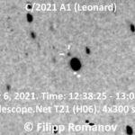 El cometa C/2021 A1 Leonard, visible a finales de 2021