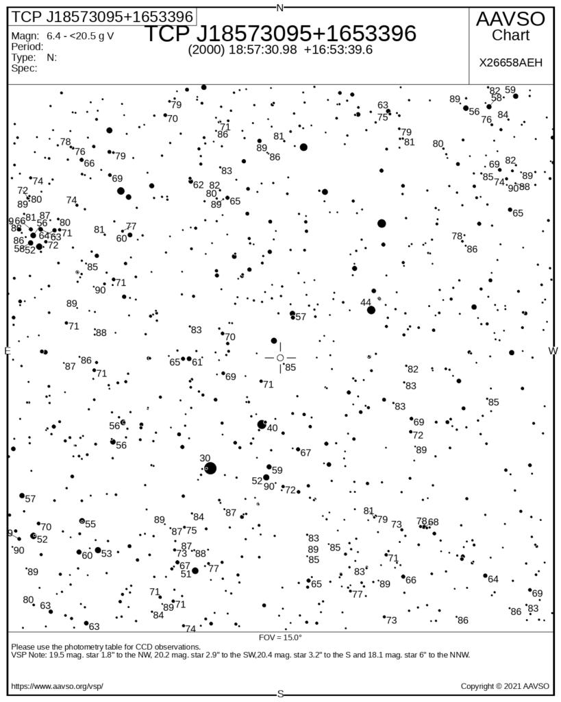 carta estelar nova hércules