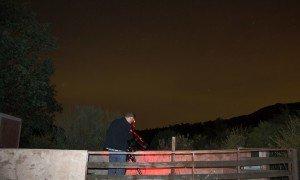 Lugar de observación astronómica en El Refugio de Cristal. Las nubes altas estropearon la primera noche.